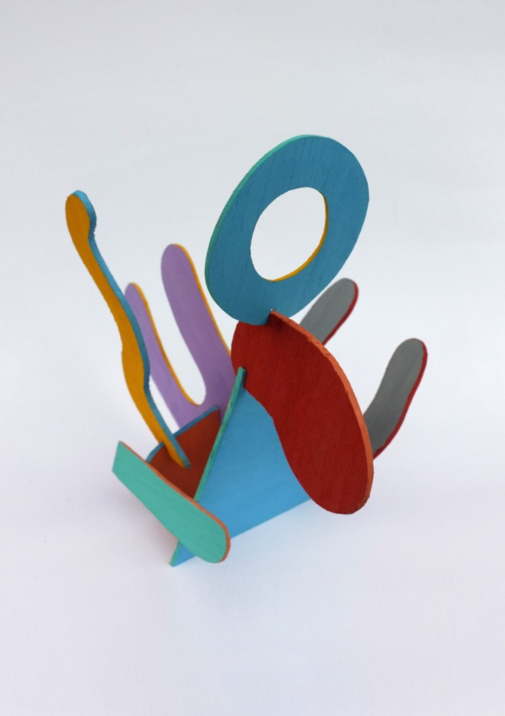 Painted Balsa Sculpture